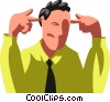 Businessman plugging his ears Vector Clip Art picture