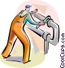 Vector Clip Art image  of a Trades People