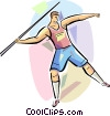 Man throwing Javelin Vector Clipart illustration