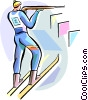 Biathlon Vector Clipart illustration