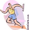 Vector Clip Art image  of a Relay Runners