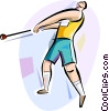 Vector Clip Art image  of a Hammer Throw