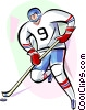 Hockey Player Vector Clip Art image