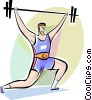 Bodybuilding and Weight lifting Vector Clip Art graphic