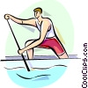 Vector Clipart graphic  of a Rowing