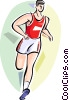 Man running race Vector Clipart image