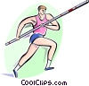 Vector Clipart image  of a Pole Vaulter