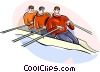 Rowing Vector Clipart picture