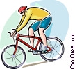 Cyclists clip art