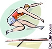 Long Jump Vector Clipart graphic