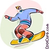 Snowboarding Vector Clipart image