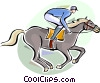 Vector Clipart illustration  of a Horse Riders