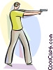 Vector Clipart picture  of a Guns
