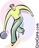 Bowler bowling ball Vector Clipart graphic