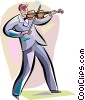 Vector Clip Art image  of a Violinists