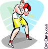 Vector Clip Art image  of a Boxers and Fighters