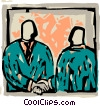 Vector Clipart illustration  of a businessmen shaking hands