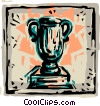 Trophies, Awards Winning Prize Vector Clipart graphic