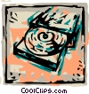 Vector Clip Art picture  of a CD-ROM Drives