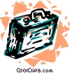 Vector Clip Art image  of a Luggage and Storage