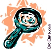 Vector Clip Art image  of a Magnifying Glasses