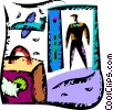 Vector Clip Art picture  of a Passengers