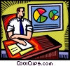 Vector Clipart graphic  of a Charts