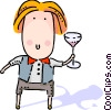 Vector Clipart picture  of a Bartenders