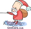 Vector Clip Art graphic  of a Santa