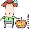 Vector Clipart picture  of a Costumes