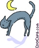 Vector Clipart illustration  of a Black Cats