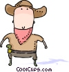 Cowboys Vector Clip Art picture