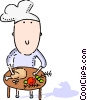 Vector Clipart image  of a Chefs and Cooks