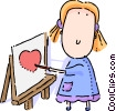Vector Clipart illustration  of a Children