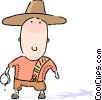 Vector Clip Art picture  of a Cowboys