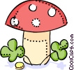Mushrooms Vector Clipart picture
