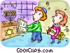 Children Vector Clipart image