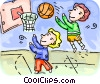 Basketball Players Vector Clip Art graphic