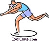 Vector Clipart image  of an Athlete about to throw the