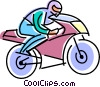 Vector Clip Art picture  of a motorcycle racer
