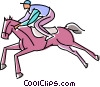 Vector Clipart picture  of a Horse racing