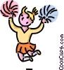 Vector Clip Art image  of a cheerleader