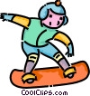 boy snowboarding Vector Clipart illustration