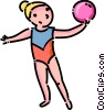gymnast Vector Clipart graphic