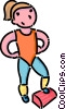 girl doing aerobics Vector Clipart picture