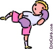 Kick boxer Vector Clip Art picture