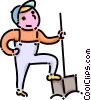 Vector Clipart graphic  of a boy with a shovel