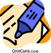 Vector Clipart image  of a Markers