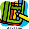 Vector Clipart picture  of a Crayons