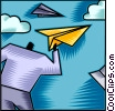 Vector Clipart graphic  of a Paper Airplanes